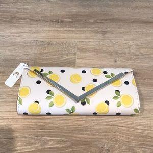 Lemon patterned clutch